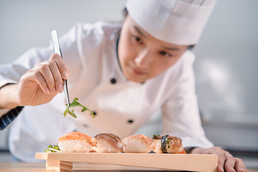 Japanese believe that women cannot be sushi chef