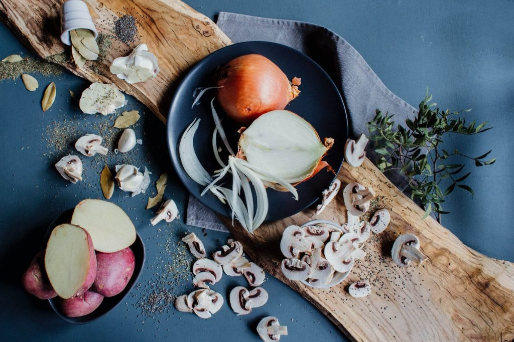 """The term """"mushroom"""" is derived from the Frenchword""""mousseron"""", referring to moss (mousse)."""
