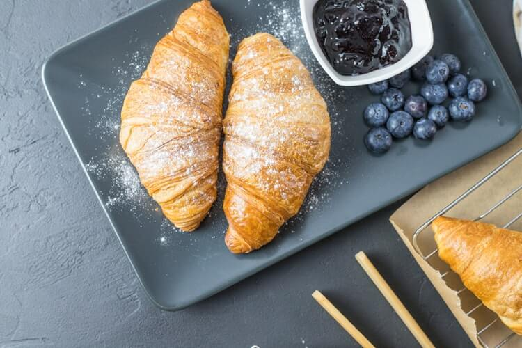 There are only eight ingredients of classic French croissant.