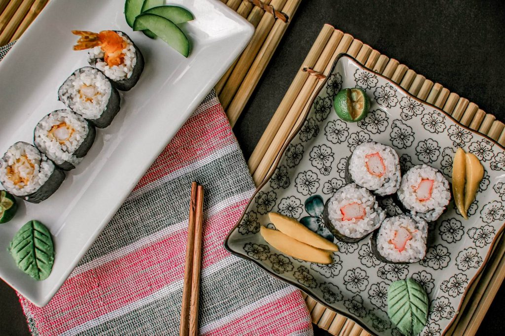 """Traditional sushi is served with green paste that we know as """"wasabi""""."""