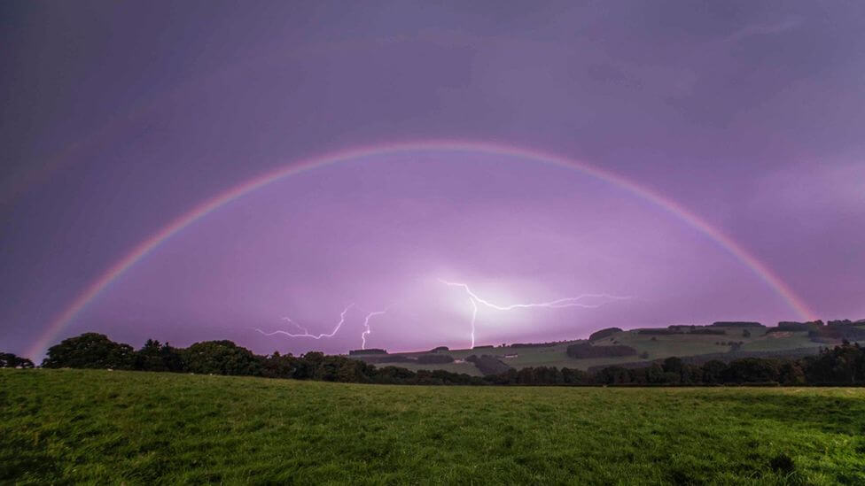 Moonbow is created by the moonlight